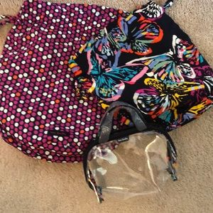 Vera Bradley totes and make up bag.